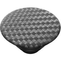 Stojan na mobil POPSOCKETS Carbonite Weave N/A, čierna, strieborná