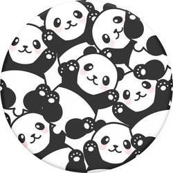 Stojan na mobil POPSOCKETS Pandamonium N/A, čierna, biela