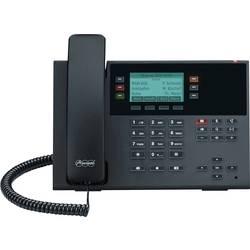 Šnúrový telefón, VoIP Auerswald D-200 SIP-IP PoE handsfree monochromatické displej čierna