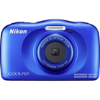 Nikon W150 Digitalkamera 13.2 Mio. Pixel Opt. Zoom: 3 x Blau Wasserdicht, Staubgeschützt,  Preisvergleich