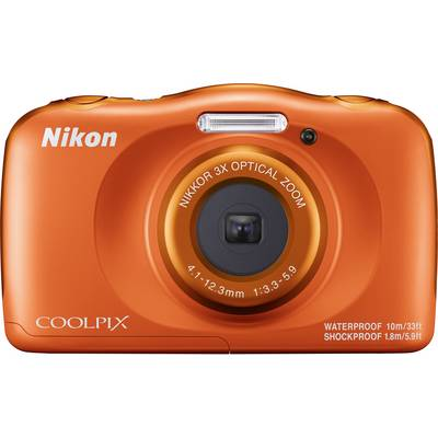 Nikon W150 Digitalkamera 13.2 Mio. Pixel Opt. Zoom: 3 x Orange Wasserdicht, Staubgeschützt Preisvergleich