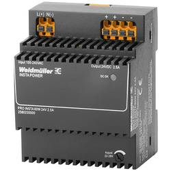 Napájací zdroj Weidmüller PRO INSTA 60W 24V 2.5A, 24 V/DC, 2.5 A, 60 W