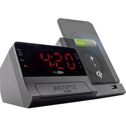 FM rádiobudík Caliber Audio Technology HCG012QI-BT, AUX, Bluetooth, čierna