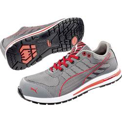 Bezpečnostná obuv S1P PUMA Safety Xelerate Knit Low 643070-42, veľ.: 42, sivá, červená, 1 pár