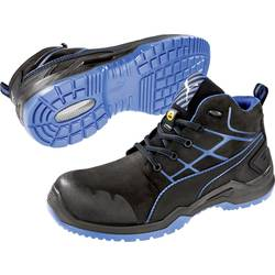 Bezpečnostná obuv ESD (antistatická) S3 PUMA Safety Krypton Blue Mid 634200-40, veľ.: 40, čierna, modrá, 1 pár