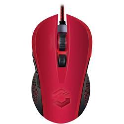 Optická USB herná myš SpeedLink Torn SL-680008-BKRD, podsvietenie, červená, čierna
