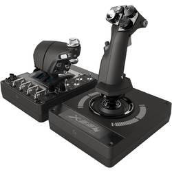 Logitech Gaming Pro Flight X56 Rhino joystick k leteckému simulátore USB PC čierna vr. posuvných regulátorov