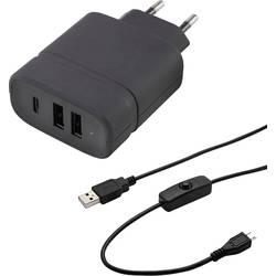 Image of VOLTCRAFT SPAS-3002C RP Steckernetzteil, Festspannung Passend für: Raspberry Pi Ausgangsstrom (max.) 3 A 3 x USB, USB-C™