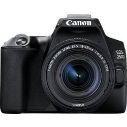 Digitální zrcadlovka Canon EOS 250 D vč. EF-S 18-55 mm IS 25.80 MPix černá 4K video, Bluetooth, otočný a naklápěcí displej, Wi-Fi
