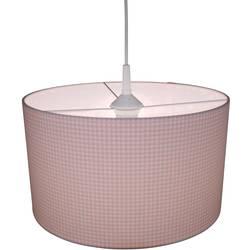 Závesné svietidlo káro Niermann Vichykaro 112, E27, 60 W, úsporná žiarovka, LED , ružová, biela