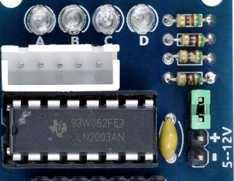 Schrittmotor-Treiberplatine mit ULN2003