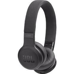 Bluetooth, káblové Hi-Fi slúchadlá On Ear JBL Harman Live 400 JBLLIVE400BTBLK, čierna