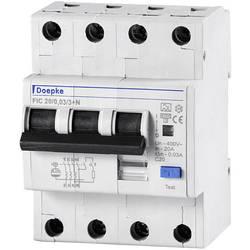 Prúdový chránič/elektrický istič Doepke 09955124, 3-pólové, 16 A, 0.03 A, 230 V, 400 V