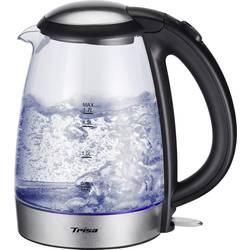 Rýchlovarná kanvica Trisa Glass Boil 6445.6912, 2200 W, 1.7 l, sklo, nerezová oceľ, čierna