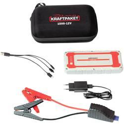 Systém na rýchle štartovanie auta, pomocné štartovacie káble Dino KRAFTPAKET 12V 1500A 62.9Wh 136150