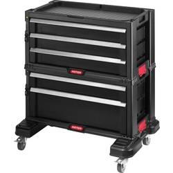 Vozík na náradie s 5 zásuvkami čierny KETER 237007, Rozmery:(d x š x v) 59.9 x 37.8 x 59.9 cm, 10 kg