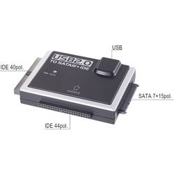 RENKFORCE USB 2.0 a USB-C TO IDE + SATA CONVERTER Renkforce RF-4282628, 0.80 m, čierna