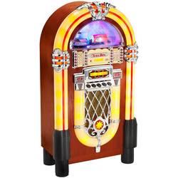 FM rádio s CD prehrávačom Karcher JB 6604 Jukebox, CD, USB, SD, farebná