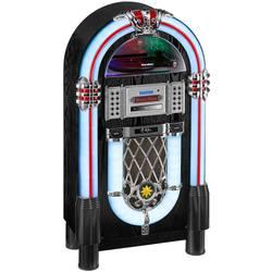 DAB+ rádio s CD prehrávačom Karcher JB 6608D Jukebox, Bluetooth, CD, SD, UKW, USB, farebná