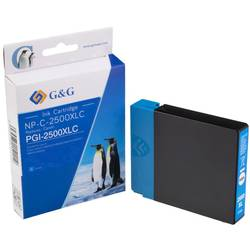 Kompatibilná náplň do tlačiarne G&G NP-C-2500XLC 1C2500C, zelenomodrá