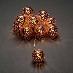 LED svetelná reťaz s motívom Konstsmide vianočné gule, vnútorné 3129-603, na batérie, teplá biela, 120 cm