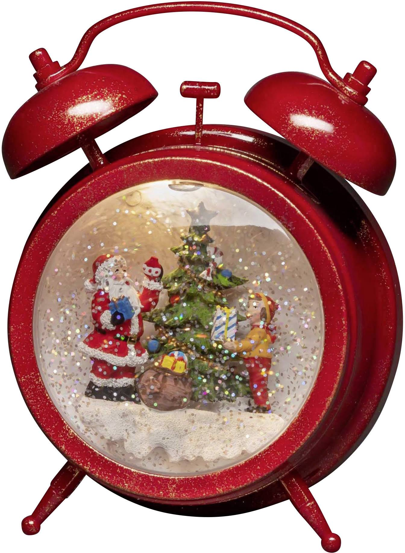 Warm Timer 550 Und Konstsmide Kind Wecker Weihnachtsmann Weiß Led Rot Mit Szenerie 4375 P80kOXwn