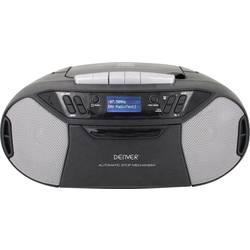 DAB+ rádio s CD prehrávačom Denver TDC-250, AUX, CD, kazeta, UKW, USB, čierna