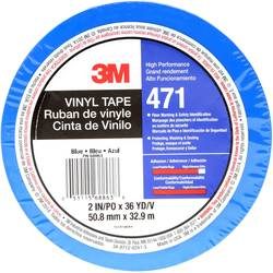 PVC tape 3M 471IW-BL50-D, (d x š) 33 m x 50 mm, modrá, 1 ks