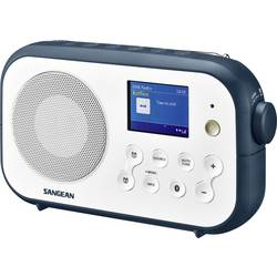 DAB+ prenosné rádio Sangean Traveller-420 (DPR-42 W/B.I.), Bluetooth, UKW, biela, tmavomodrá