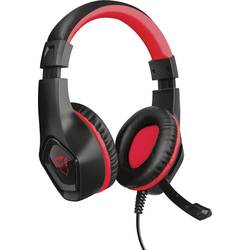 Trust GXT404R Rana herný headset jack 3,5 mm káblový cez uši čierna, červená