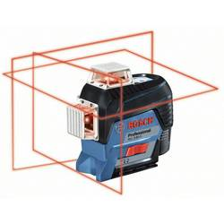Krížová vodováha laserová Bosch Professional Dosah (max.): 30 m, Kalibrované podľa: bez certifikátu