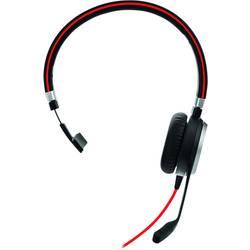 Náhlavná sada mono Jabra Evolve 40 MS Mono, stereo, káblový, čierna, červená