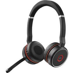 Náhlavná sada stereo Jabra Evolve 75 Stereo MS, stereo, bezdrôtový, čierna