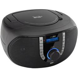 DAB+ rádio s CD prehrávačom Caliber Audio Technology HBC433DAB-BT, AUX, Bluetooth, CD, UKW, čierna