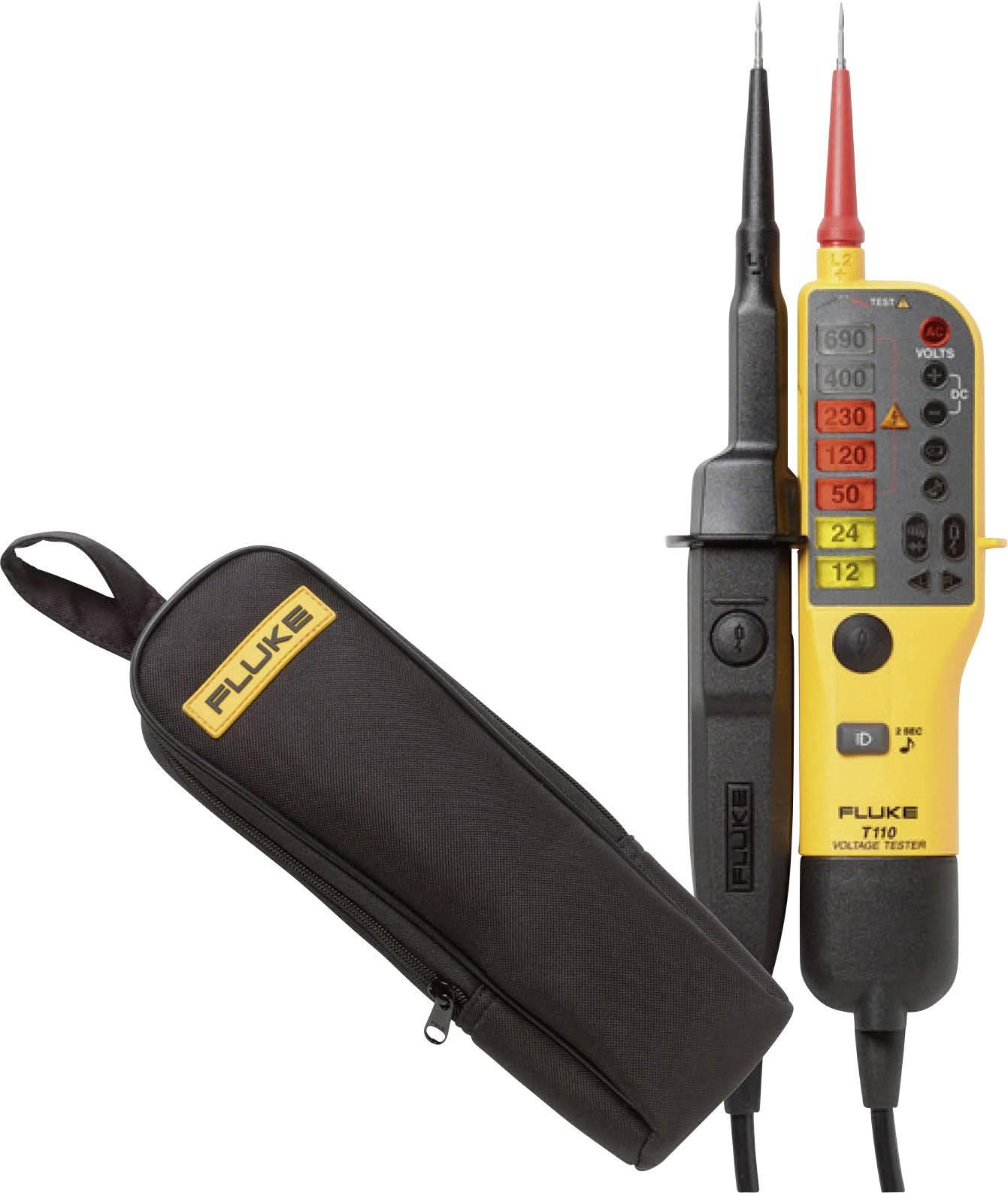 LCD CAT IV 600 V Akustik HT Instruments HT10 Zweipoliger Spannungspr/üfer CAT III 1000 V LED Bargraph
