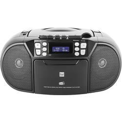 DAB+ rádio s CD prehrávačom Dual DAB-P 210, AUX, CD, UKW, čierna