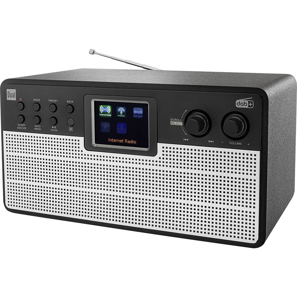Dual Radiostation IR 100 Tafelradio met internetradio DAB+, FM Bluetooth, WiFi,