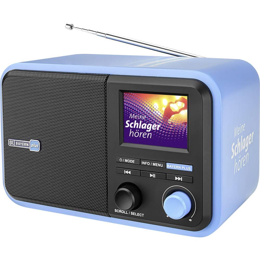 Dual Bayern Plus Tafelradio DAB+, FM AUX, Bluetooth, SD, USB Herlaadbaar Blauw