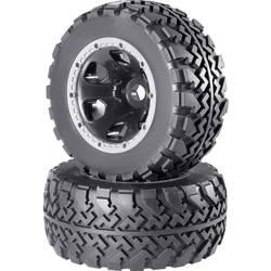 Kompletné kolesá blokový profil Reely RE-6478857 pre monster truck, 205 mm, 1:5, 2 ks, hliník