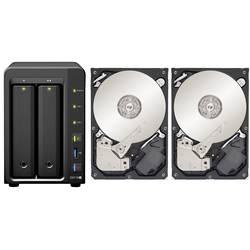 NAS server Synology DiskStation DS718+ DS718+-6TB-FR, 6 TB, vybavený 2x pevným diskom 3TB Recertified
