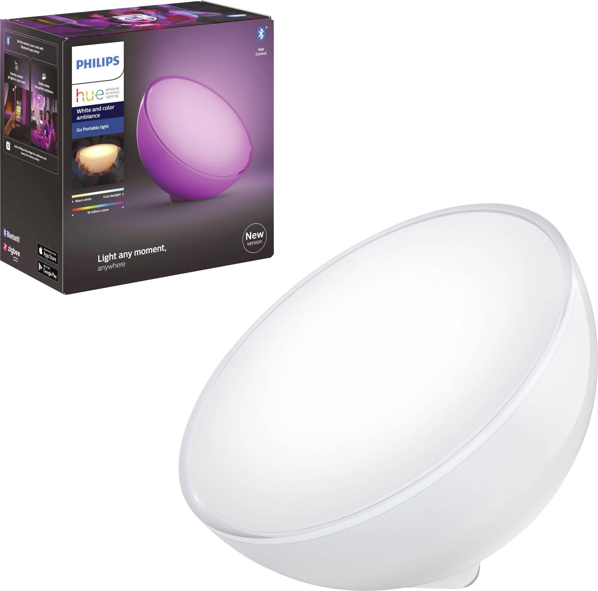 SET Philips Hue Go LED Tischleuchte Akku kabellos tragbar Lightstrip Plus 2m