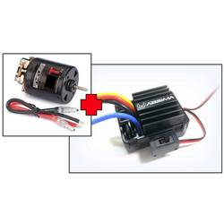 Jednosmerný motor a regulátor otáčok, sada pre RC modely 1:10 Absima počet závitov: 12