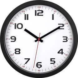 Quartz nástenné hodiny TFA Dostmann 60.3050.01, čierna
