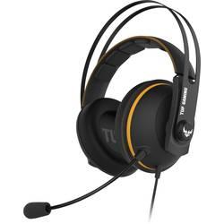 Asus TUF H7 herný headset s USB, jack 3,5 mm káblový cez uši čierna, žltá