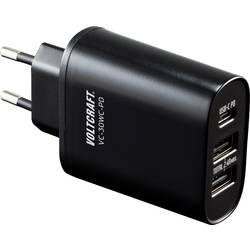 USB nabíjačka VOLTCRAFT VC-30WC-PD, čierna