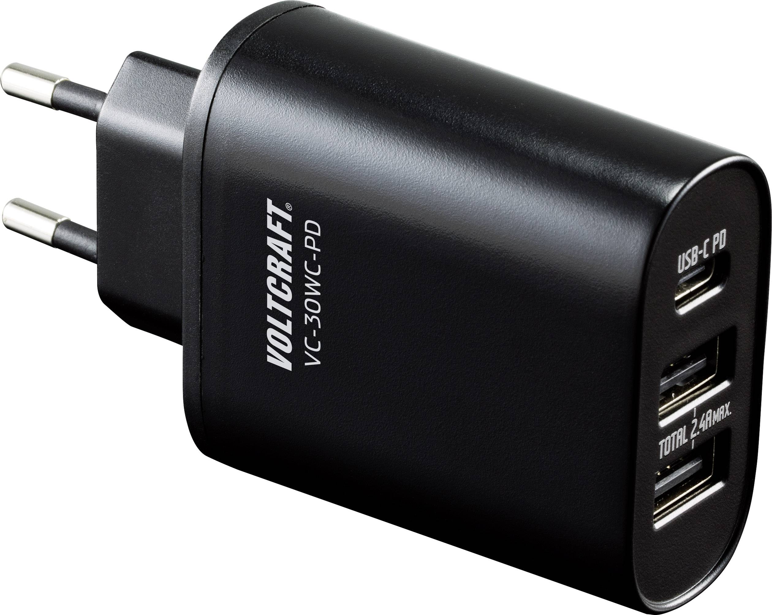 VOLTCRAFT VC 30WC PD VC 30WC PD USB Ladegerät Steckdose 3 x USB, USB C™ Buchse