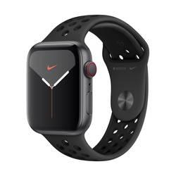 Image of Apple Watch Nike+ Series 5 44 mm GPS + Cellular Aluminiumgehäuse Spacegrau Sportarmband Schwarz, Anthrazit
