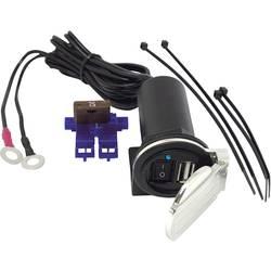 BAAS USB palubná zásuvka do vozidla 2.1A s chrómovaným pružinovým odklápacím krytom Prúdová zaťažiteľnosť (max.)=2.1 A
