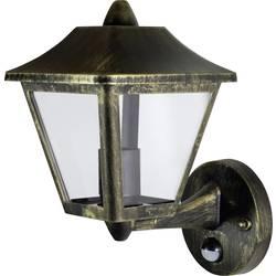 Vonkajšie nástenné osvetlenie s PIR senzorom LEDVANCE ENDURA® CLASSIC TRADITIONAL ALU L 4058075206281, E27, litý hliník, čierna, zlatá