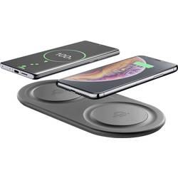 Bezdrôtová indukčná nabíjačka Cellularline WIRELESSDUALPADK, Qi štandard, čierna